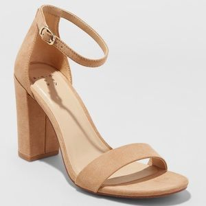 A New Day Ema Taupe Block Heel